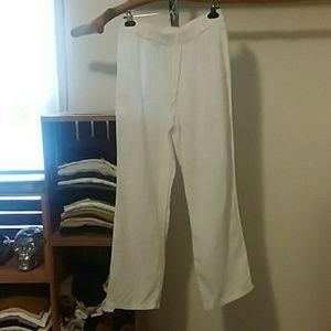 White / Navy Linen Pants (2pr)